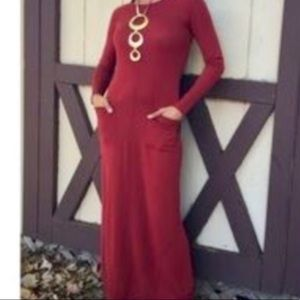 Sparrow red sweater maxi dress!